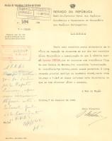 Ofício da PVDE ao Diretor Geral dos Serviços Económicos e Consulares a solicitar esclarecimento uma vez que recebeu ofício da Legação Alemã autorização de residência em Lisboa de Koethe Kruger, para prestar serviço na Academia Alemã nesta cidade