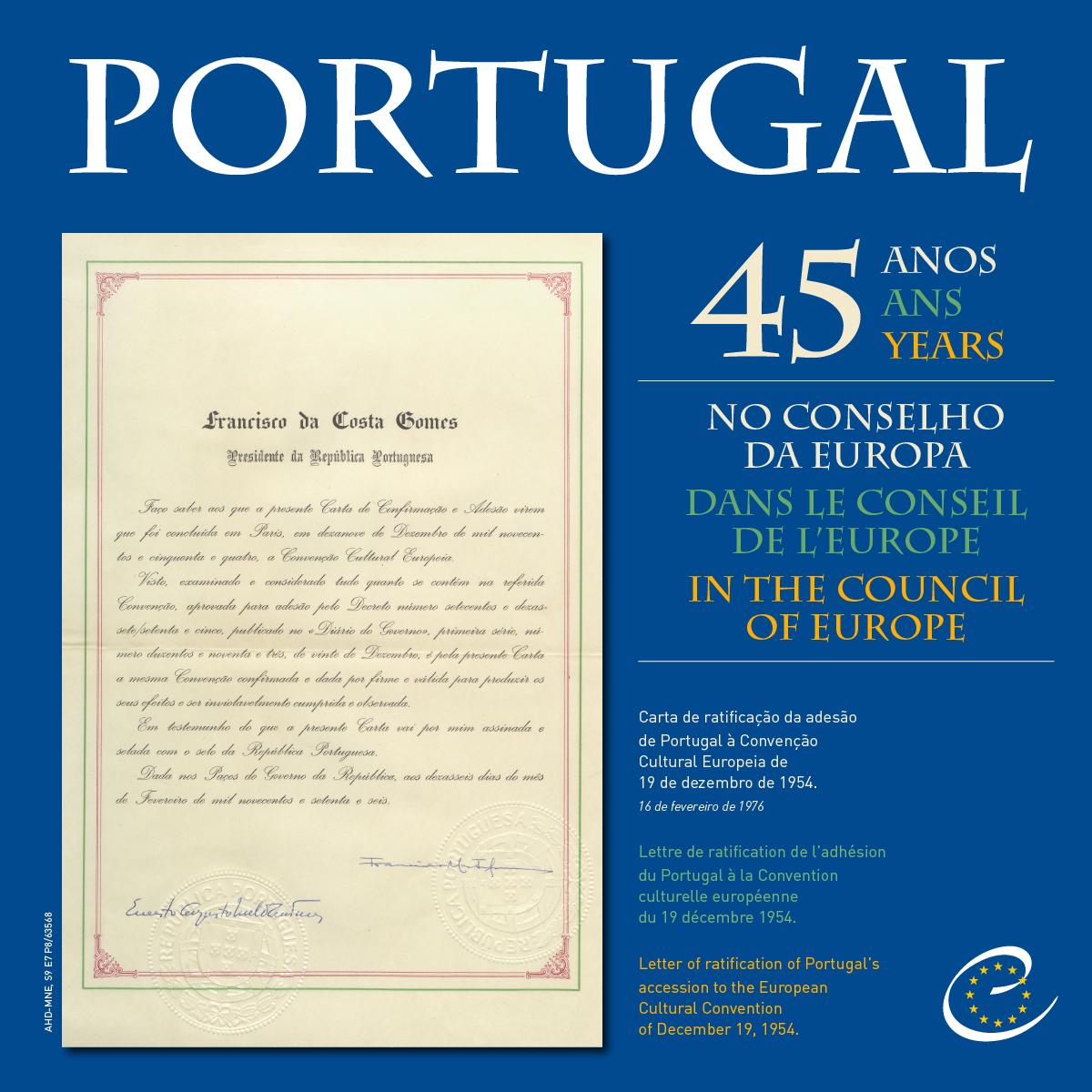 45 anos Portugal Conselho Europeu A